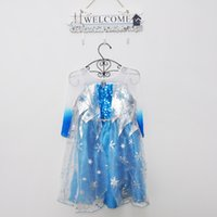 Cheap 2015 Princess Party Dresses Best Elsa Costume For Girls Dress Up