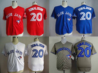 TORONTO BLUE JAYS JERSEYS - 20 Josh Donaldson Jersey Cheap Baseball Jerseys Toronto Blue Jays Home Road White Red Blue Grey Jersey