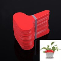 algae red - T type Plastic Nursery Garden Plant Label Flower Thick Tag Mark Red Brand New
