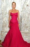 Wholesale 2015 Long Fuchsia A Line Formal Evening Dresses Sweetheart Sleeveless nd Golden Globe Awards Celebrity Gown Women Dresses Vestiods WXC
