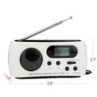 solar radio flashlight - NOAA Weather Radio AM FM LED Flashlight Solar Crank Power Emergency Charger Y4345B