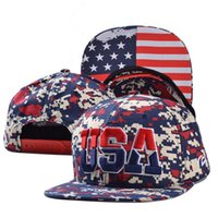 Cheap Camouflage USA Flag Embroidered Unisex Adjustable Sport Baseball Snapback hat Adjustable Fashion Hip-Hop Cap