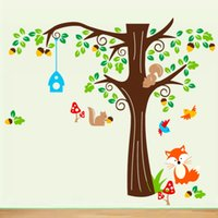 Cheap Mushrooms  Trees  Fox Squirrels Wall Stickers Decorated for Nursery Kid's Room order<$18 no tracking