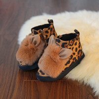 baby flannel fabric - Baby Shoes New Arrival Girls Boots Autumn Winter Fashion Korean Cute Rabbit Ears Low Flannel Boots MC