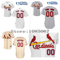 Wholesale Free Custom St Louis Cardinals Authentic Personalized Cool Base Jersey Double Stitched Onfield Baseball Jersey Customize
