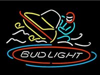 RGB Commercial restaurant high quality bright neon sign BUD LIGHT SNOWMOBILE HANDCRAFTED REAL NEON GLASS TUBE BEER BAR NEON LIGHT SIGN