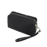 Wholesale Fashion Women Shining Girl Small Bead Bag Handbag Long Purse Wallet Coin Moblie Phone Purses Candy Colors L09323 order lt no t