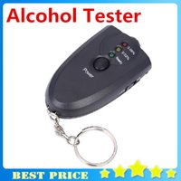 bac keychain - Portable Digital Flashlight Keychain Breath Alcohol Tester BAC Red LED Light Alarm Breathalyzer Analyser