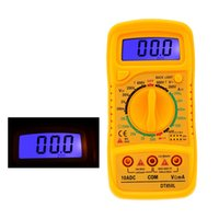 Wholesale DT850L Mini Pocket DMM Digital Multimeter Large LCD Display Intelligent Multimeters Data Logger Multimetro with Test Lead