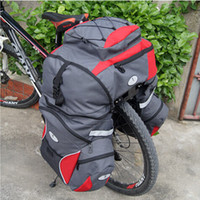 bicycle basket cover - Bicycle Bags Rear Travel Pannier Three In One Package Shelf Attached Waterproof Rain Cover Basket Cycling Bike Bicycle Bag
