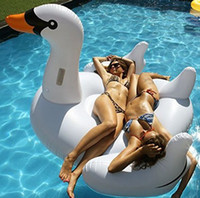 Wholesale inflatable swan for pool float swan toy giant pool inflatables flotador giant float pool water floats island float