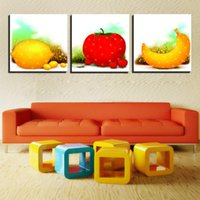 banana tree fruit - 3 Pieces No frame on Canvas Prints Abstract flower Sunflower petal leaf tree Cartoon banana Tomatoes orange Fruits Sketch fish