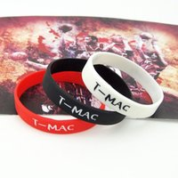 Wholesale Basketball fans Maddie Mcgrady star supplies silicone wristband bracelet