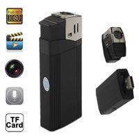 Wholesale V18 Lighter Camera Full HD P Mini DV Lighter Video Recorder DVR Camcorder Portable with highlighted flashlight