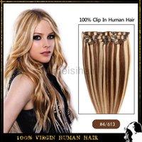 Brazilian Hair 24 inch clip in human hair extensions - Clip In Human Hair Extention Natural Human Hair Extensions quot inch Unprocessed Brazilian Virgin Hair Clip In Hair Extentions