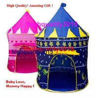Cheap Hot Sale Ultralarge Children Beach Tent, Baby Toy Play Game House, Kids Princess Prince Castle Indoor Outdoor Toys Tents Christmas Gifts