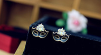 mask earrings - 3 New Women Big Earings Women Earrings Ear Studs Mask Design Fifty Shades Of Grey Necklace Charm Earrings Mask