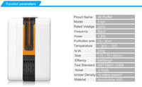 Wholesale Portable Negative Ion Air Purifier Ozonator Air Cleaner Oxygen Bar Purify Air Kill Bacteria Virus Ionizer