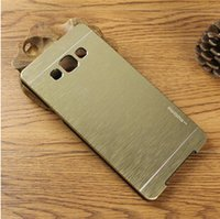 Cheap GALAXY A3 A5 A7 Case Metal Brushed MOTOMO Hard Cases for SAMSUNG A7000 Cell Phone Cover Luxury Case Skin Mix order DHL Free