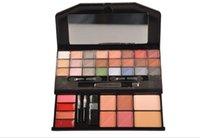 apply pressed powder - W913A Colors Eye Shadow Blusher Pressed Powder Lip Brillant Eyeliner Eye Shadow Box Fine Powder Easy To Apply
