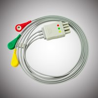Cheap CE/EU 3 lead ECG leadwire Best   Holter Recorder Cable
