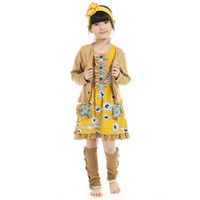 Wholesale Childrens Fall Outfits - baby clothes fall childrens clothing adorable tank dress coat back to school dress girls clothing outfit
