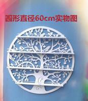 Wholesale Hanging Wrought Iron Circular art Nail Polish Wall Rack Display stand Cosmetics shelf CM