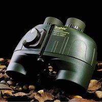 Cheap Wholesale-Antlers binoculars10x50 Genuine boshile Military telescope Standard Night vision binoculars High-powered HD Ranging compass