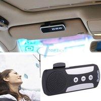 Wholesale Wireless Bluetooth Speakerphone Car Speaker Kit Car Charger Visor Clip Bluetooth Handsfree Kit Kit de Coche Bluetooth Y2064