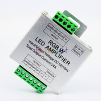 Wholesale LED RGBW Amplifier Controller A RGB Singnal Repeater CH Magnifier Aluminum for RGBW RGB Strip module Amplifier