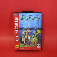 Wholesale DC MD SS SEGA Memery Cards Brave Battle Saga Legend of the Magic Warrior bit MD Game Card With Retail Box For Sega Megadrive Genesis