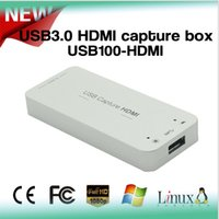 Wholesale MINE HD100u High quliaty USB3 HDMI capture box compatible usb2 support P Hz with Windows Linux OS