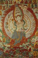 Wholesale Tibetan Buddhist Nepal gold tapestry Goddess Thangka portrait