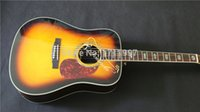chinese acoustic guitars - new arrival Dreadnought Acoustic Guitar sunburst color chinese guitar on sale