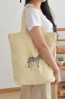 ba shops - 2016 Spring New pattern Shopping bag single shoulder handbags literature Fan Yinhua Canvas bag package single shoulder woman package will Ba