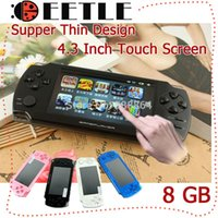 Wholesale Touch Screen Game Player gb Mp5 Player inch Game Console Mp5 Tv Out Retail Box Hands Console Mp5 Games Player