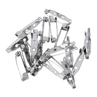 Wholesale 20 x Silver Tone Brooch Backs bar pin badge finding broach Safety Pin Needle mm High Quality