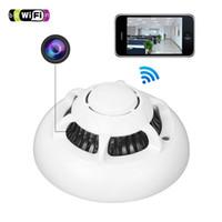 avi networks - Smoke Detector WiFi HD SPY Hidden Wireless IP Camera Nanny Video Recorder Network Remote White AVI