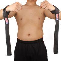 Wholesale 2pcs Sport Hand Wrist Brace Bar Support Gym Strap Belt Weight Lifting Barbell Wrap Body Building Grip H13305