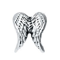 bulk charms - Double Angel Wings Lucky Charms Floating Lockets Charms On Sale China Bulk Jewelry