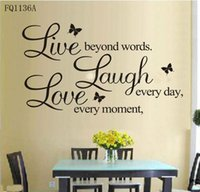 b quotes - B Vinyl Decal quot Live every moment Laugh every day Love beyond words quot Wall Quote