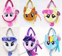 Wholesale way My little Pony Cartoon plush bags coin purse My little Pony Handbags