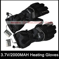 battery heated ski gloves - WARMSPACE V Heating Gloves With MAH Rechargeable Lithium Battery Skiing Gloves For Winter Outdoor