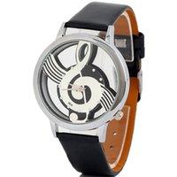 Wholesale Retro GENEVA Geneva quartz watch music character Ladies Watch PU watch band