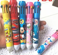 Wholesale hot sell children cartoon pen multicolor ballpoint pen frozen KT mickey mouse despicable me cartoon stationery students gift