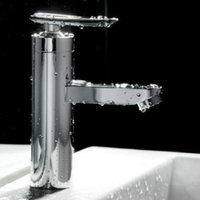 Cheap 1pcs Single Handle Sink Mixer Tap Brushed Chrome Waterfall Bathroom Basin Faucet Fashion Style Wholesale