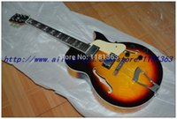 Wholesale NEW MODEL Chinese OEM LP JAZZ Guitar sunset colored ES jazz Electric Guitar musical instrument