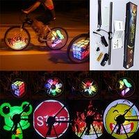 bicycle led spoke lights - 128 LEDs Spoke Light Double Side Display Waterproof DIY Programmable LED Wheel Light Monkey Light for inch Bike Bicycle Wheel Light