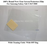 Cheap Wholesale-200PCS By DHL Fedex Clear Film For Samsung Galaxy Tab S 10.5 T800 Guard Screen Protectors