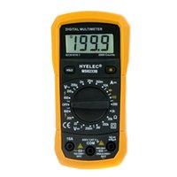 Wholesale LCR Meter Multifunction Mini Digital Multimeter Back Light Multimetro Professional Ammeter Multitester HYELEC MS8233B